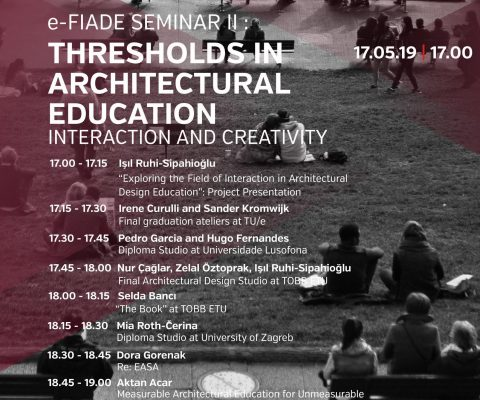 e-FIADE Seminar II: Thresholds in Architectural Education